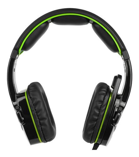 auriculares p/videojuegos sades sa-930 3.5 mm dorado y negro