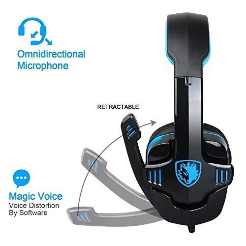 auriculares sades sa708gt gaming ps4 pc 3.5mm con mic