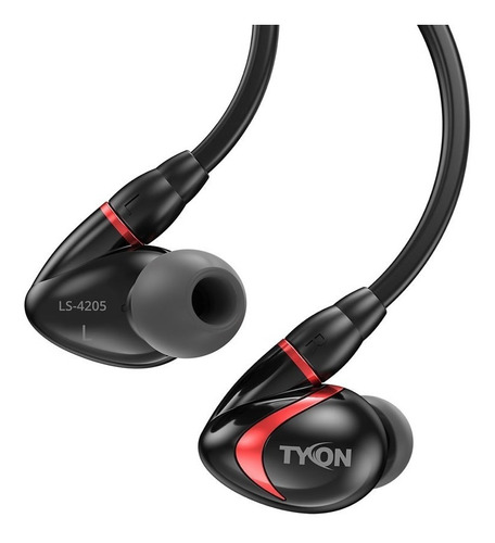 auriculares sentey tyon black ls-4205 microfono deportivo