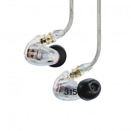 auriculares shure de aislamiento de sonido, se315-cl