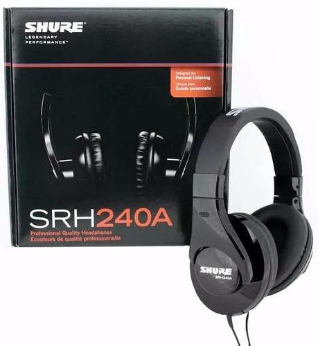 auriculares shure srh 240a dj profesionales dj nuevo gtia