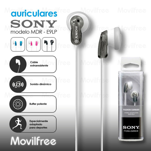 auriculares sony mdr e9lp