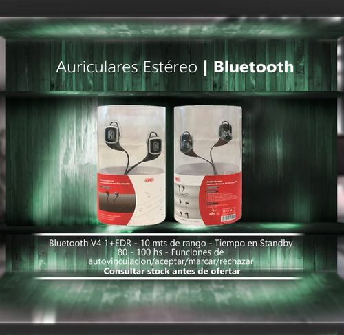 auriculares stereo inalambricos bluetooth run negro hsg-143