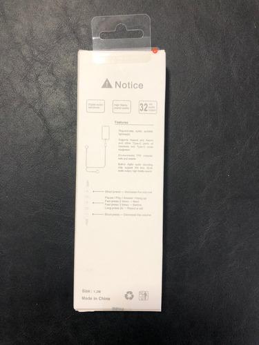 auriculares tipo c con interface para earphone ipads/andorid