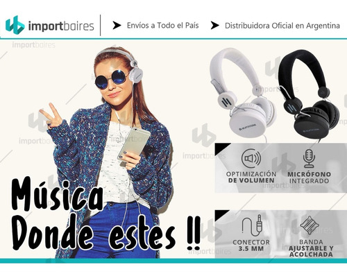auriculares vincha ajustable manos libres celular pc tablet