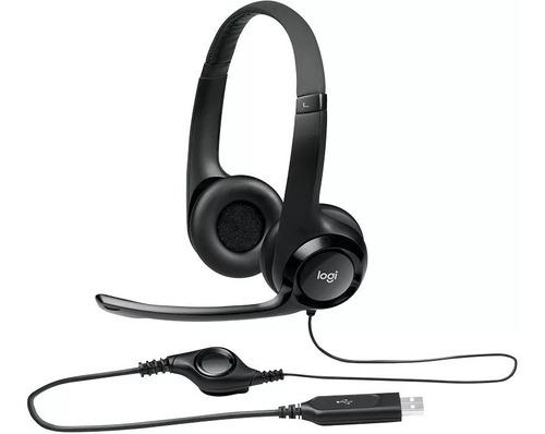 auriculares vincha logitech clearchat usb h390 mic