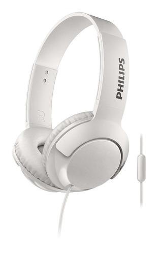 auriculares vincha philips con micrófono shl3075wt/00 blanco