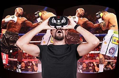 auriculares vr gafas realidad virtual 3d hasta telefono 6.5