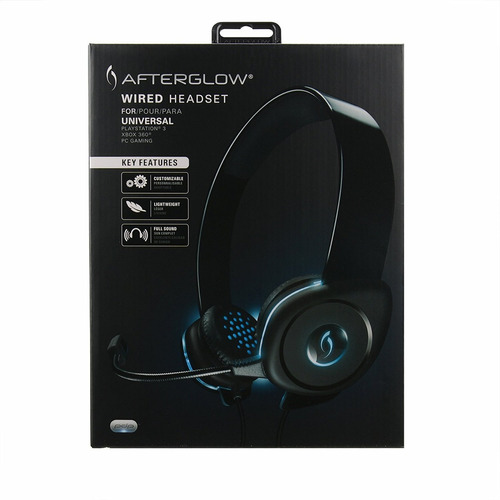 auriculares xbox 360 pdp afterglow agu.40 universal wired