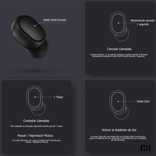 auriculares xiaomi earbuds basic mi true wireless original