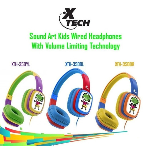 auriculares xtech para niños con cable sound art xth-350