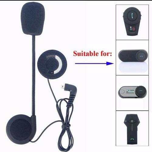 auriculares y microfono para intercomunicador moto