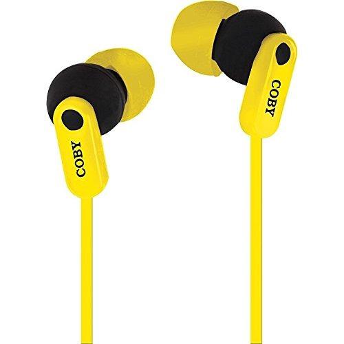 auriculares,coby cv-e108ylw enchufe auriculares estéreo ..