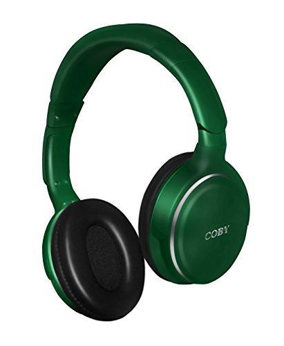 auriculares,coby cvh-808-grn revolve auriculares estéreo..
