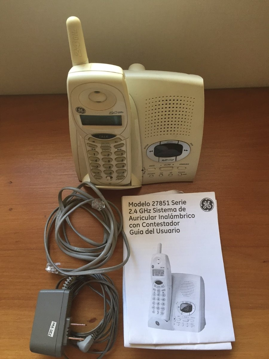 auricular tel fono inal mbrico ge 27851 con contestador 10 000 rh articulo mercadolibre cl