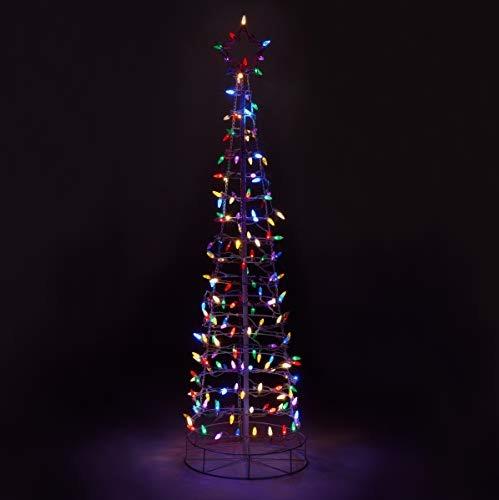Marcos Para Fotos De Arbol De Navidad.Aurio 6 Pies Cono 3d Arbol De Navidad Para Exteriores Marco