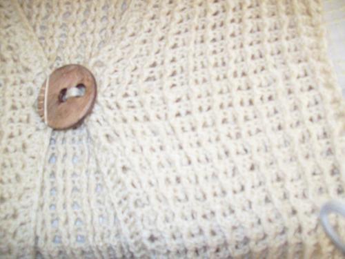 aurojul-chaleco lana s/mangas tejido crochet-largo-nuevo