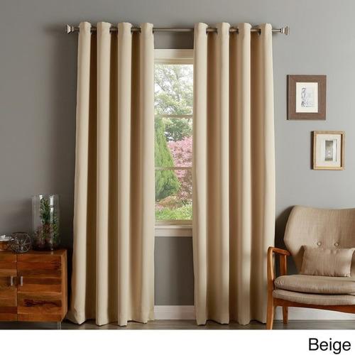 aurora home silver grommet 90  blackout cortina panel (pair)