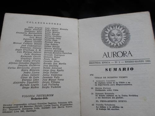 aurora - pablo neruda ,enrique lihn ,otros 1964.