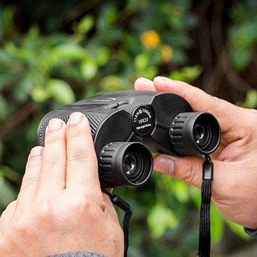 aurosports 10x25 binoculares plegables de alta potencia con