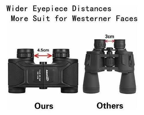 aurosports 12x25 gran angular hd binoculares a prueba de nie