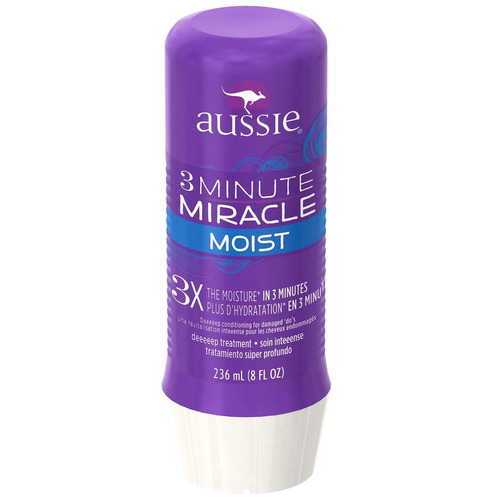 aussie 3 minute miracle moist mascara tratamento 236ml
