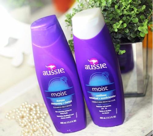 aussie kit moist shampoo 400ml + condic. 400 ml.