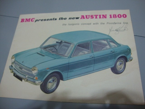 austin 1800 folder/catalogo original, ingles da bmc