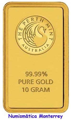 australia, lingote 10 gramos oro puro .9999 perth mint.