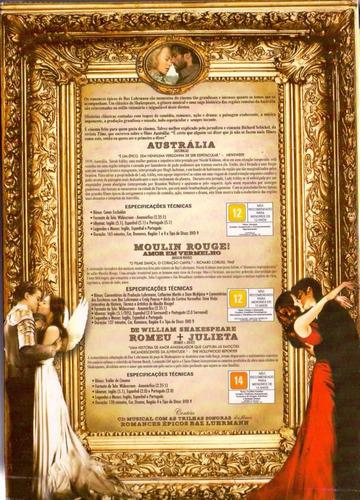 australia + moulin rouge + romeu+ julieta box  lacrado novo