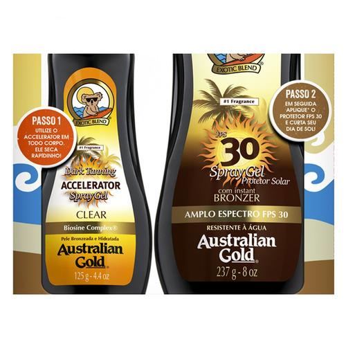 australian gold dark tanning kit - protetor + acelerador kit