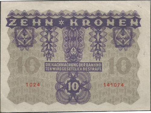 austria 10 kronen 2 ene 1922 p75