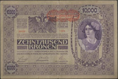 austria 10.000 kronen nd1919 p65