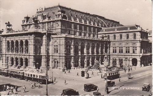 austria antigua postal de la opera estatal de viena wien