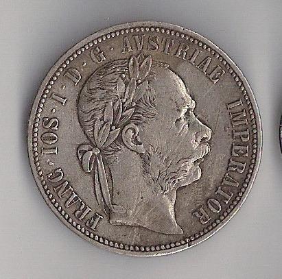 áustria - florim de prata 0,900 - 1881, mbc+!