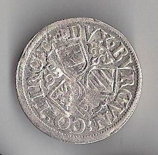 áustria - tirol, 3 kreuzer de 1564-95, prata - mbc!