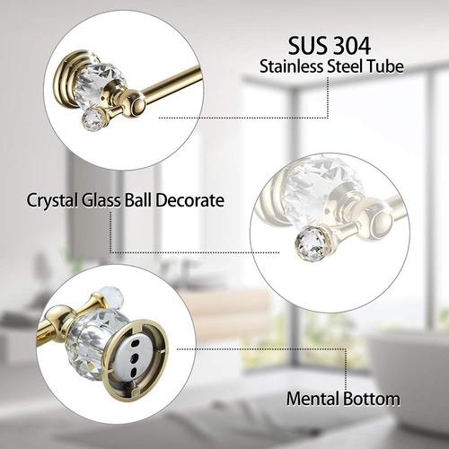 auswind oro cristal pared montado latón de 23 pulgadas toal