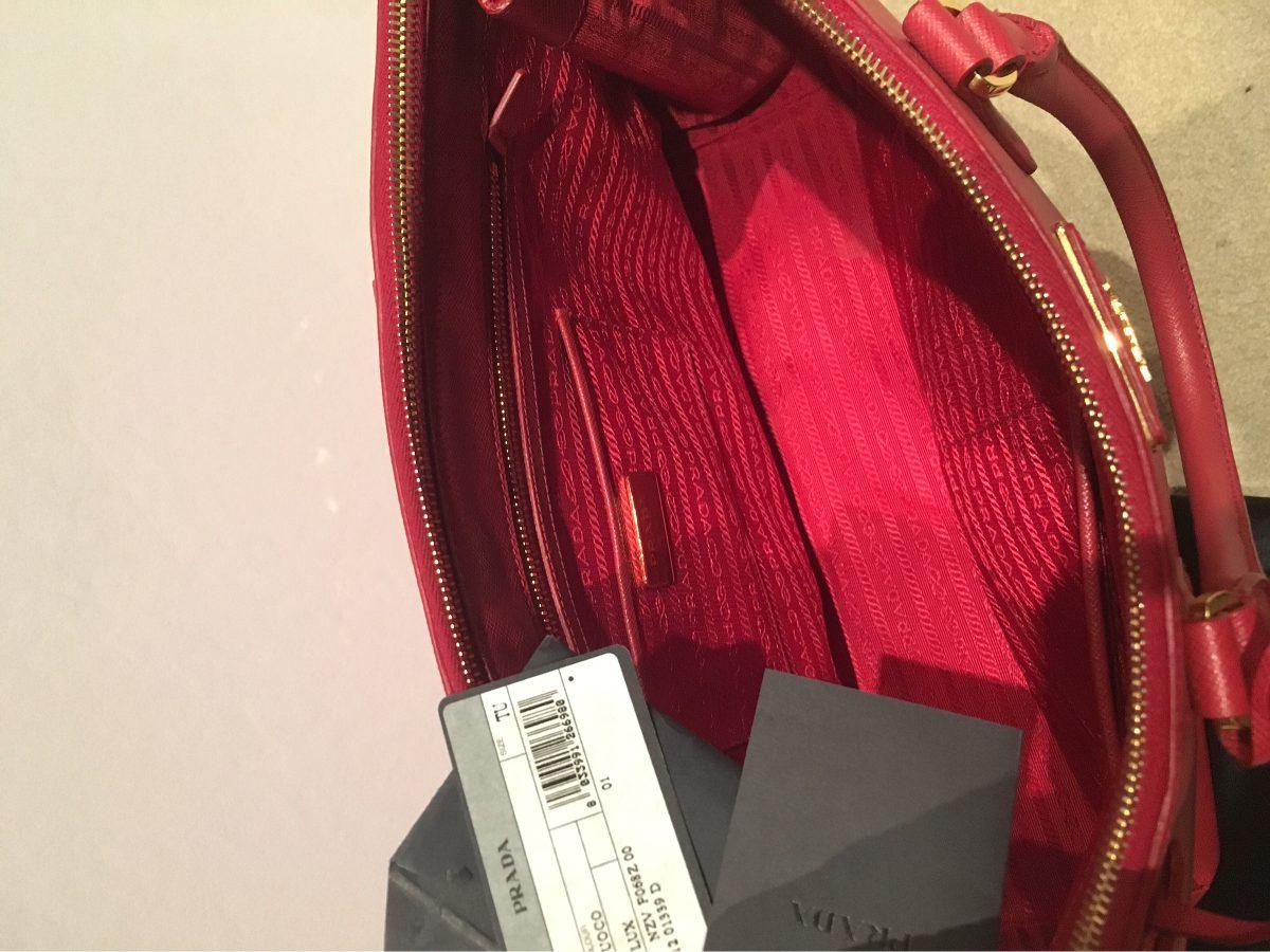 aut cartera prada modelo zaffiano lux color fuoco doble zip. Cargando zoom. 98235915ed2c