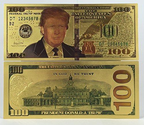 auténtico $ 100 presidente donald trump auténtico 24kt ch