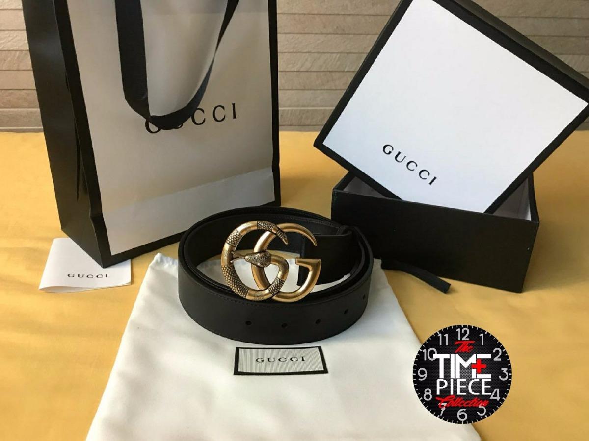 Autentico Cinturón Gucci Negro Con Hebilla Doble G Snake -   800.000 ... 7f5f304588f