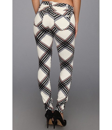 autentico jeans 7 for all mankind plaid velvet skinny !!!