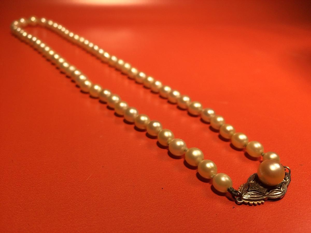 900d9e0e6735 Autentico Y Antiguo Collar De Perlas