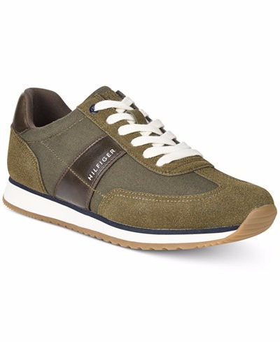 autenticos tommy hilfiger men's modesto low-top sneakers 9.5