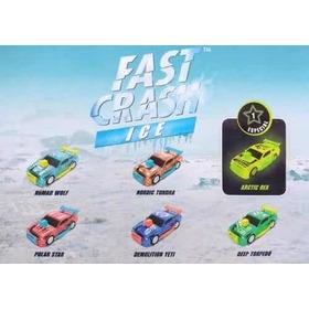 Autitos Fast Crash Ice - Ford Mustang - Caja X 12