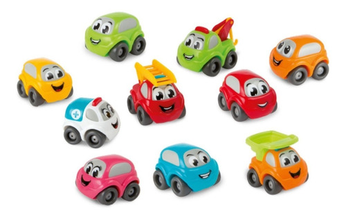 autitos smoby pack x 10 vehiculos