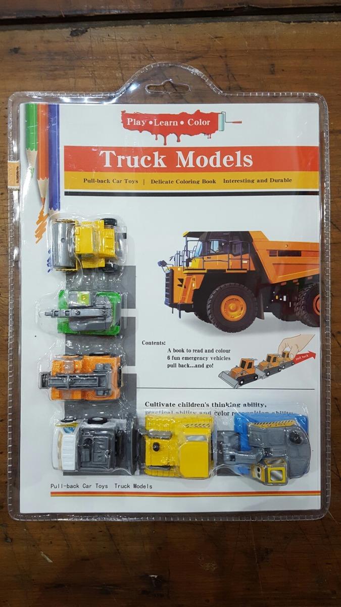 Autitos X6 Camiones De Construccion Libro Colorear July Toys - $ 395 ...