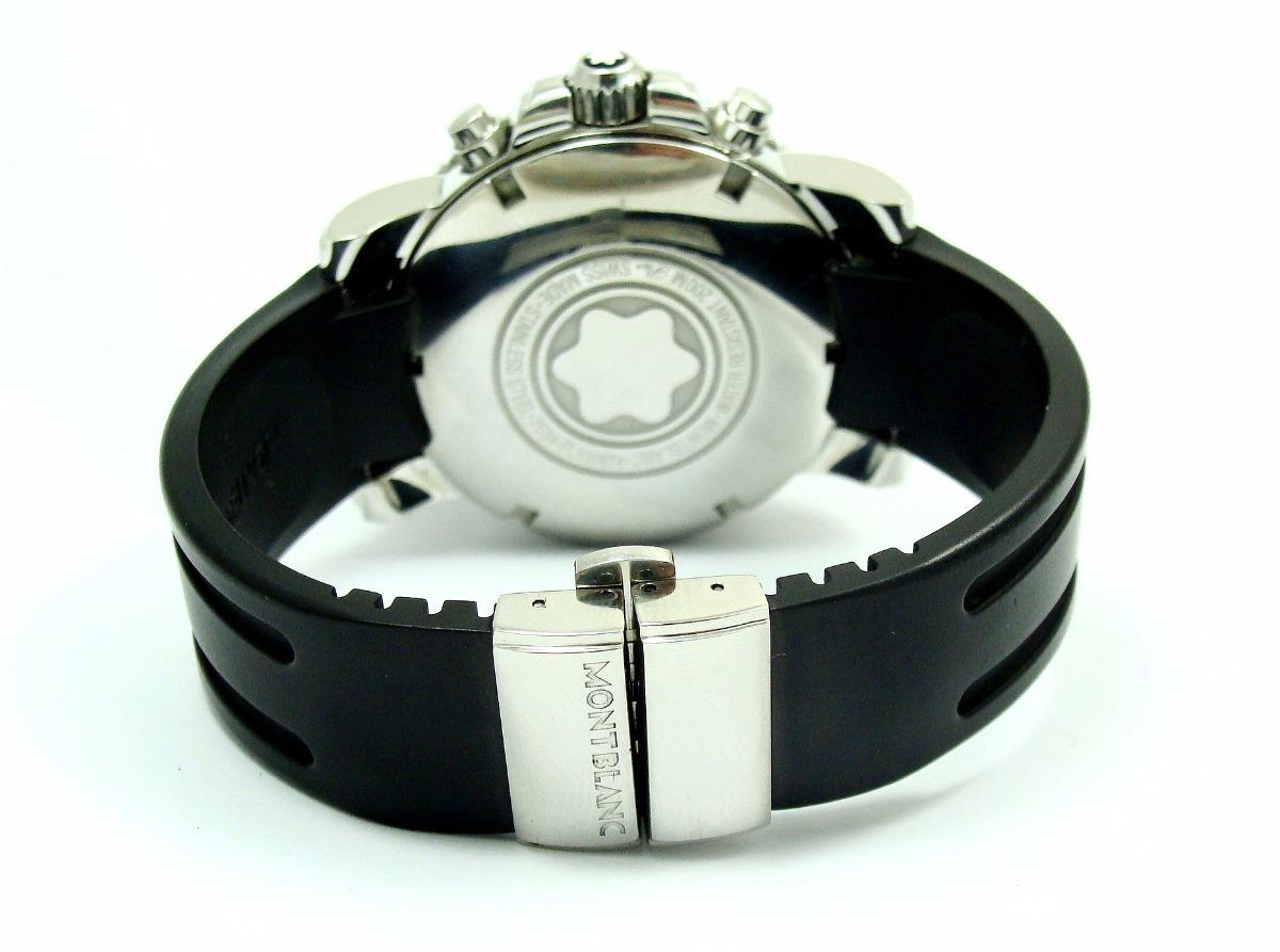 8c4256af73a autêntico montblanc sport chrono diver rubber black 7034 !!! Carregando  zoom.