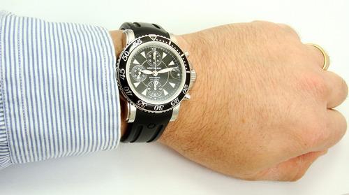 autêntico montblanc sport chrono diver rubber black 7034 !!!