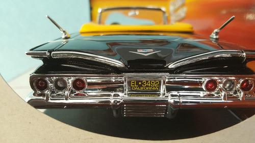 auto 1960 chevy inpala clasico motor max escala 1/18 negro