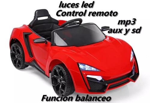 auto a bateria 12v c/remoto sonido mp3 luz led furious cuota